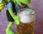 kermit drinks beer